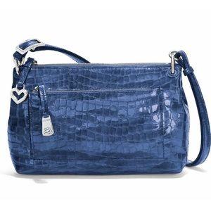 Brighton Bria French Blue Patent Croc Purse Bag